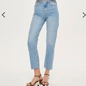 Topshop Straight Leg Denim Jeans